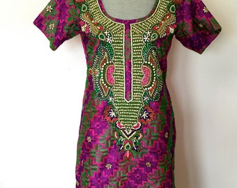 S-M 80's Handmade Punjabi Dress Size Small-Medium