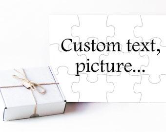 Custom puzzle, Custom photo puzzle, Personalized photo puzzle, Photo puzzle, Personalized puzzle, Pregnancy reveal, Baptism puzzle, Custom
