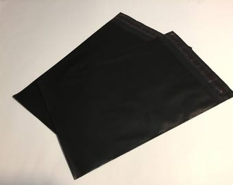 50  7.5 x 10.5 BLACK Poly Mailers  Self Sealing Envelopes Shipping Bags Halloween