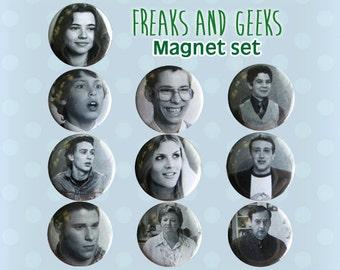 Freaks and Geeks aimants - lot de 10 Mini - des années 1990 le projet de loi Haverchuck Seth Rogan Fans et Fan Art