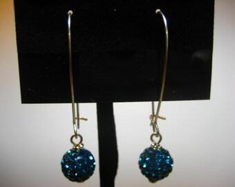 Teal Pave Crystal Earrings,Earrings,Jewelry,Silver Earrings,Gift for Her,Dangle Earrings,Drop Earrings,Crystal Earrings,Gifts for Mom