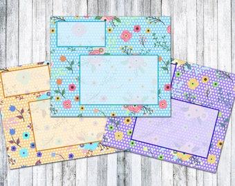 Floral Envelope Set