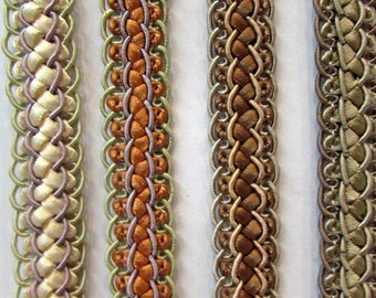 Fancy BRAIDED TRIM  in 4 colors