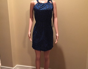 Electric Blue and Black Sundress
