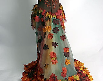 Autumn Pixie - Fall-en Fairy Dress - Made to Order