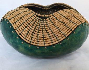 Green Gourd Bowl -Item 767 by Susan  Ashley