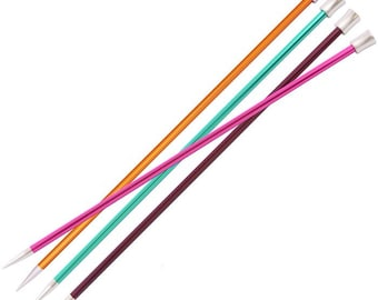 KnitPro Zing straight single-pointed knitting needles pins - 25cm length - various sizes