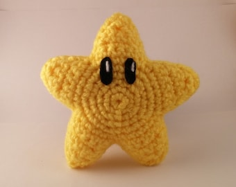 Crochet Super Mario Power Star Plush