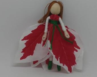Christmas Elf - Christmas Fairy -  Flower Fairy - Fairy Doll - Waldorf doll - Christmas ornament