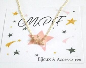 Origami bird necklace