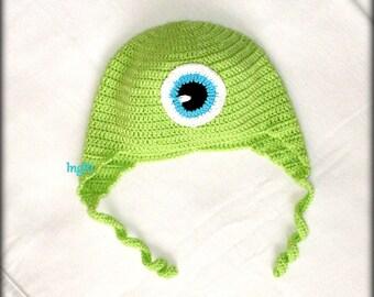 crochet green cap for boy