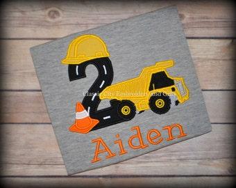 Construction birthday shirt,- dump truck birthday shirt,- first birthday,- second birthday,- third birthday,- fourth birthday,- boy birthday