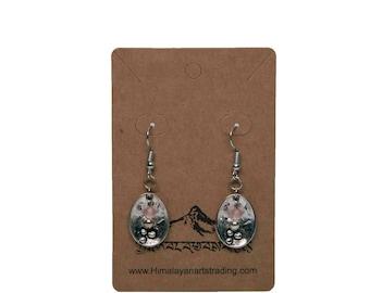 Bird Nest earrings with Silver Plated earring hooks.