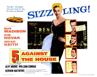 """Lobby Card From the Film """"5 Against the House"""" Starring Kim Novak (Reproduction) - 8X10 or 11X14 Photo (MP-001)"""