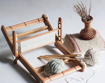 Weaving loom. Table loom. Rigid heddle loom. Weaving loom kit. Working section - 50 cm/19.7 inch