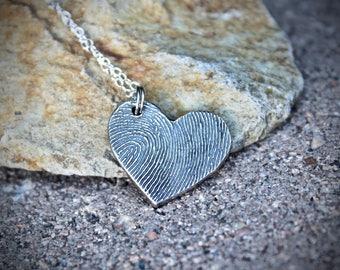 Fingerprint Heart Charm, Fingerprint Jewelry Fingerprint Heart Memorial Fingerprint Charms Fingerprint Memorial Jewelry Heart Fingerprint