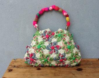 Orinuno Bag - Handfolded and Sewn Flowers
