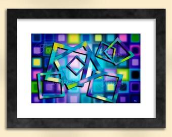 Squares 3 Abstract Art Print