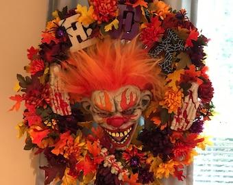 Halloween horror wreath