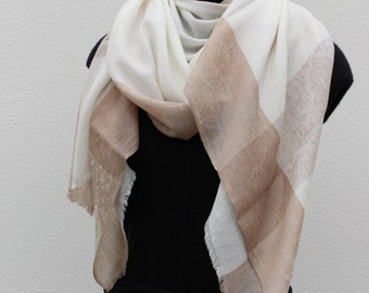 Cashmere Scarf - Ivory Sand