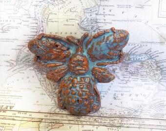 unique ceramic bead supply - bug pendant bead - Focal Bead supply, Handmade clay Bead, Ceramic Bead, focal necklace bead supply -    # 60