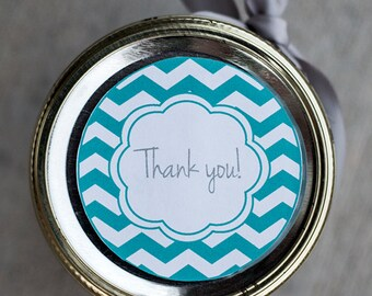 Printable thank you mason jar label PDF | Thank you gift tag instant download