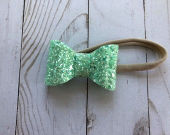 Stacked Mint Mini bow