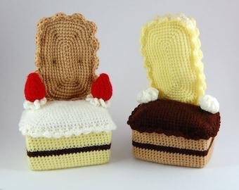amigurumi pattern - cake couches