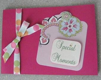 Mini Scrapbook Photo Album Special Moments PINK