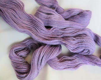 100% Alpaca - Hand Dyed/Painted - Purple- 3 Ply DK Weight Yarn - 250 Yds - 12-14 WPI