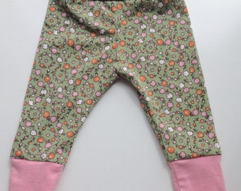 Newborn Cotton Floral Baby Pants - Recycled Repurposed