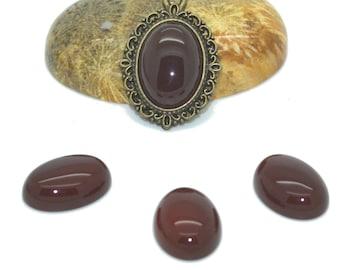 Cabochon gemstone 14 x 10 firebrick agate