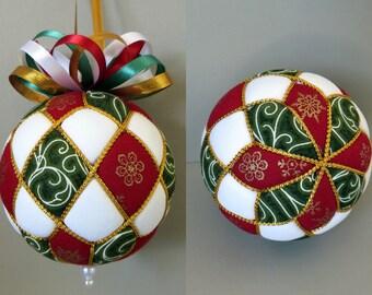 Christmas Ornament Tutorial - Pattern - Instructions - DIY - No Sew - Argyle
