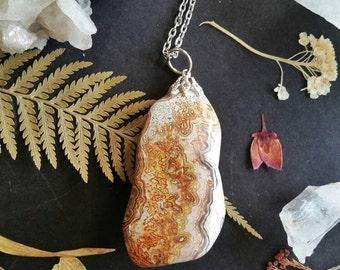 Crazy Lace Agate Necklace | Agate Necklace | Lace Agate Necklace