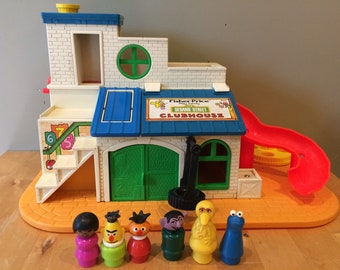 Vintage Fisher Price Sesame Street Clubhouse