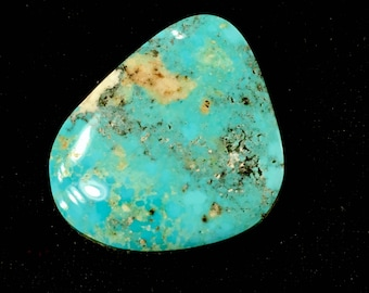 Stormy Mountain Turquoise Natural Rare Gem Blue Cabochon 30.5 CT