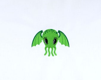 Cutie Cthulhu 4x4 machine embroidery design