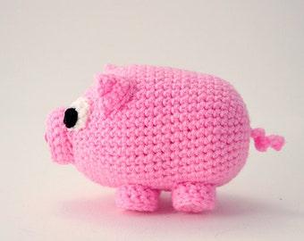 Piglet Crochet Pattern, Pig Amigurumi Pattern, Pig Crochet Pattern, Amigurumi Pig Pattern, Crochet Piggy Pattern, Animal Crochet Pattern