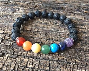7 Chakra Gemstone Healing & Balancing Reiki Bracelet