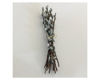 Pussy Willow Branches - Bundles of 12  -  Wedding Decor 9 - 11 inches, Easter, Spring, Mother's Day, Natural Hand Picked & Sorted in  Maine