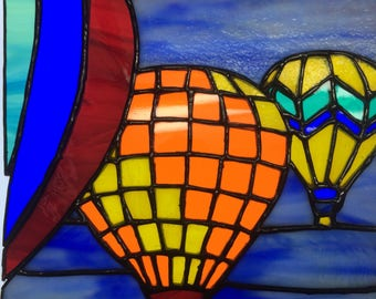 Hot Air Balloons in Stained Glass