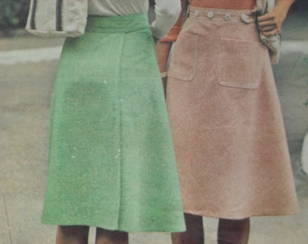 Wonderful Butterick vintage pattern for Wrap & Go Skirt - circa 1970's