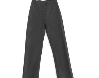 90s Black Leather Pants