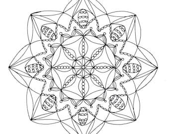 Mandala Coloring Page, Instant Download Mandala Printable Page 3