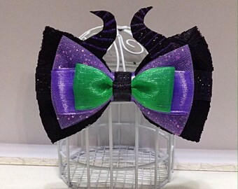 Sleeping Beauty Maleficent inspired cosplay Disneybounding hair bow