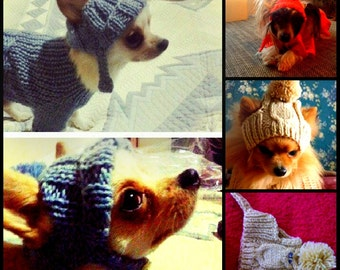 dog hat.puppy hats.hat.knitting hat for dog.clothes.small dog hat.big dog hat