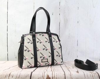 Satchel, Shoulder Bag, Cross body bag, Roller skate Shoulder bag, Zippered purse, Zippered shoulder bag, Tote bag