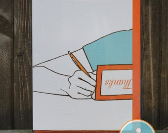 Thank You Note Card - Thank You Card