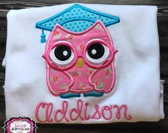 Graduation Shirt, Graduation Gift, Kindergarten Graduation, Preschool Graduation, Graduation Shirt, Graduation Owl