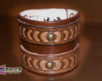 Rock star, Wristband Leather Man Gift, Handmade. I customized.